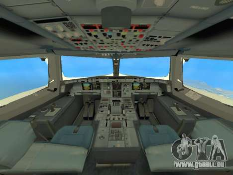A380-800 Hainan Airlines pour GTA San Andreas vue intérieure