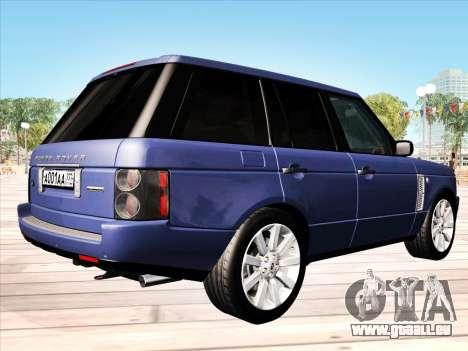 Land Rover Supercharged Stock 2010 V2.0 für GTA San Andreas rechten Ansicht
