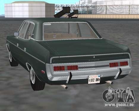 AMC Matador 1972 pour GTA San Andreas sur la vue arrière gauche
