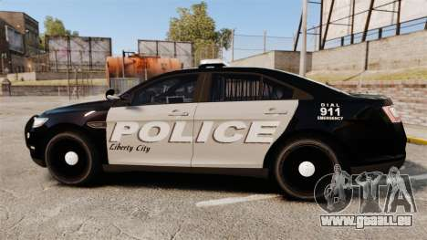 Ford Taurus LCPD Interceptor 2011 [ELS] für GTA 4 linke Ansicht