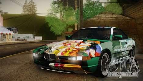 BMW M8 Custom pour GTA San Andreas vue de dessus