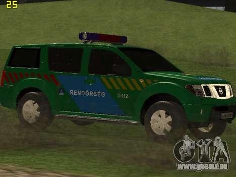 Nissan Pathfinder Police pour GTA San Andreas vue intérieure
