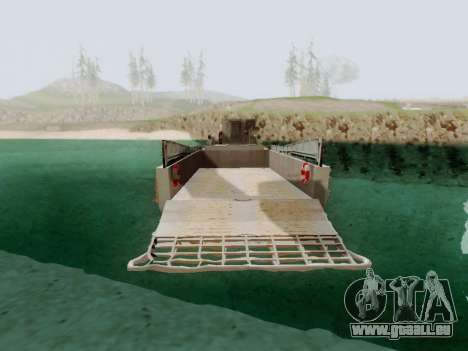Landing Craft für GTA San Andreas zurück linke Ansicht