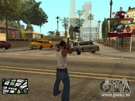 C-de la PALETTE de l'homme de Fer pour GTA San Andreas troisième écran