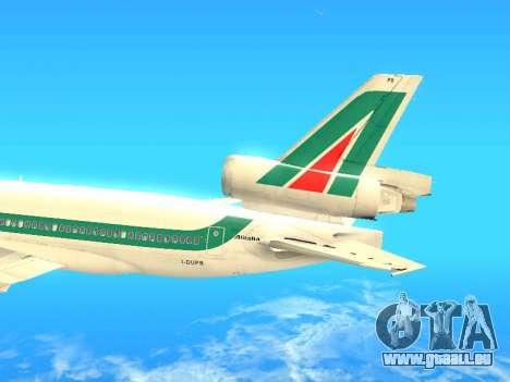 McDonnell Douglas MD-11 Alitalia pour GTA San Andreas vue intérieure