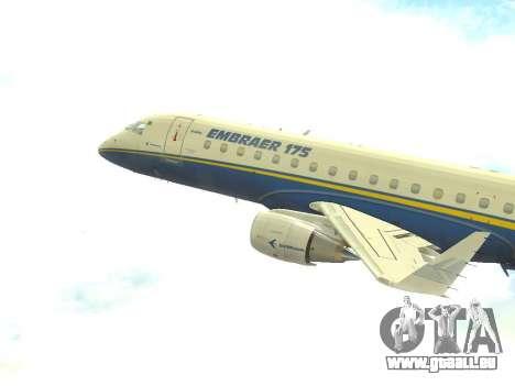 Embraer 175 HOUSE pour GTA San Andreas laissé vue