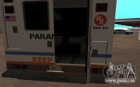 GTA 5 Ambulance pour GTA San Andreas laissé vue