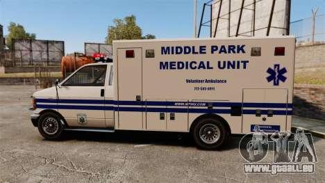 Brute MPMU Ambulance pour GTA 4 est une gauche
