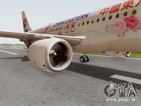 Airbus A320-211 China Eastern pour GTA San Andreas vue arrière