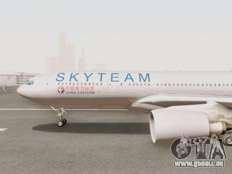 A330-202 China Eastern pour GTA San Andreas sur la vue arrière gauche