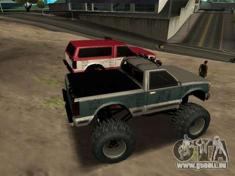 Street Monster pour GTA San Andreas vue intérieure