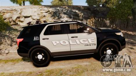 Ford Explorer 2013 LCPD [ELS] Black and Gray für GTA 4 linke Ansicht