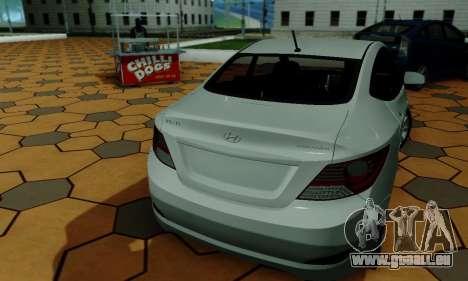 Hyndai Solaris für GTA San Andreas Unteransicht