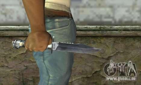 Le couteau de Stalker pour GTA San Andreas troisième écran