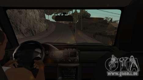 Ford Escort 1996 pour GTA San Andreas vue intérieure