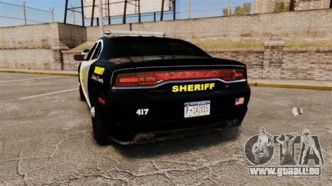 Dodge Charger 2013 LCSO [ELS] pour GTA 4 Vue arrière de la gauche
