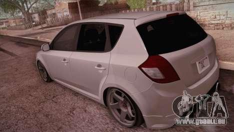 Kia Ceed 2011 SA Plates pour GTA San Andreas sur la vue arrière gauche
