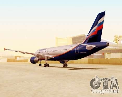 Airbus A320-200 Aeroflot für GTA San Andreas Innenansicht