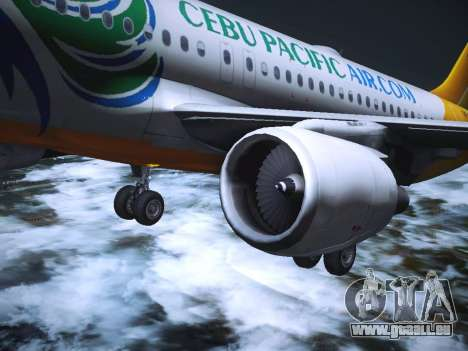 Airbus A320 Cebu Pacific Air pour GTA San Andreas salon