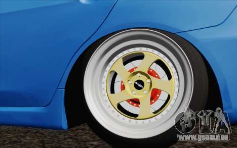 Mitsubishi Lancer Evo X GangLow pour GTA San Andreas sur la vue arrière gauche