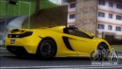 McLaren MP4-12C Spider für GTA San Andreas linke Ansicht