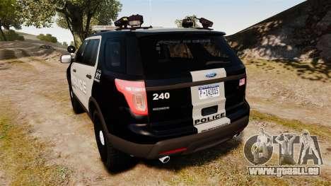 Ford Explorer 2013 LCPD [ELS] Black and Gray für GTA 4
