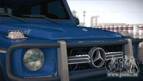 Mercedes-Benz G63 AMG 6X6 pour GTA San Andreas vue intérieure