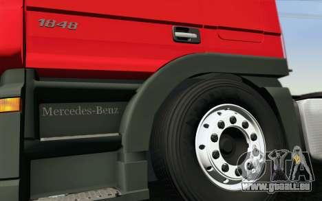 Mercedes-Benz Actros pour GTA San Andreas vue de dessous