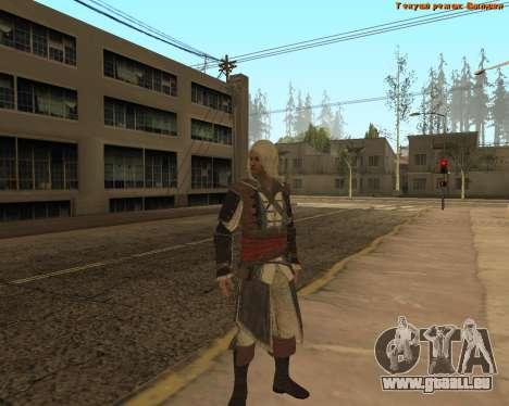 Assassin Edward pour GTA San Andreas deuxième écran