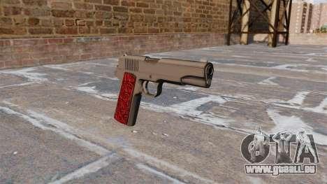 Les Pistolets Colt 1911 Chrome pour GTA 4