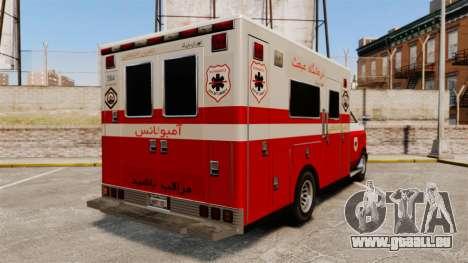 Iranische Lack-Ambulanz für GTA 4 hinten links Ansicht