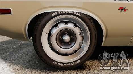 Dodge Challenger RT 1972 für GTA 4 Rückansicht