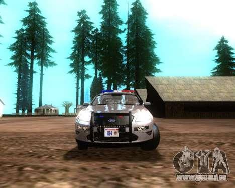 Ford Interceptor Los Santos County Sheriff für GTA San Andreas linke Ansicht