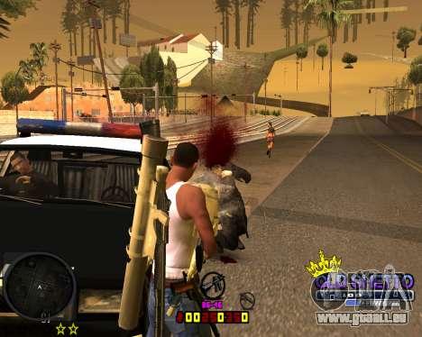 C-HUD Old Ghetto pour GTA San Andreas quatrième écran