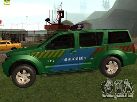 Nissan Pathfinder Police pour GTA San Andreas laissé vue