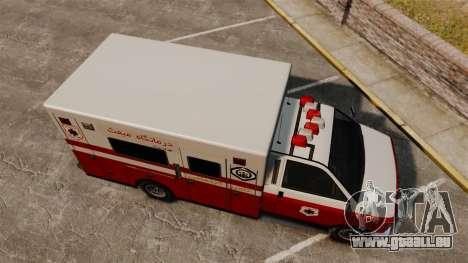 Iranische Lack-Ambulanz für GTA 4 rechte Ansicht