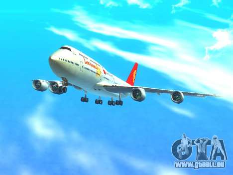 Boeing 747 Air China pour GTA San Andreas vue de dessus