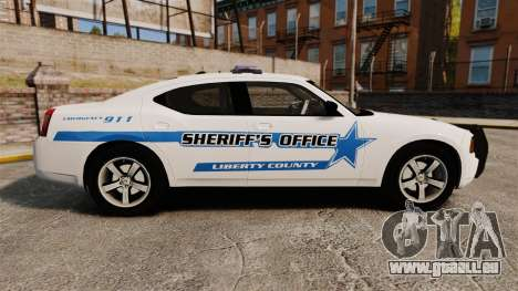Dodge Charger 2010 Liberty County Sheriff [ELS] für GTA 4 linke Ansicht