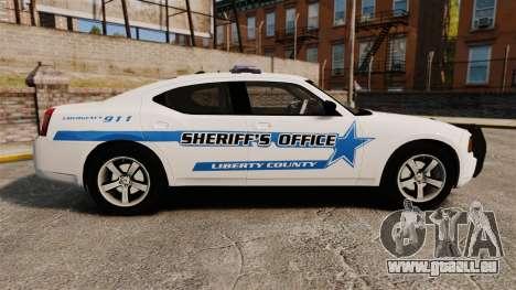 Dodge Charger 2010 Liberty County Sheriff [ELS] für GTA 4 linke Ansicht