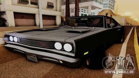 Dodge Coronet RT 1969 440 Six-pack pour GTA San Andreas vue arrière