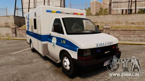 Brute Speedo TEMS Ambulance [ELS] pour GTA 4