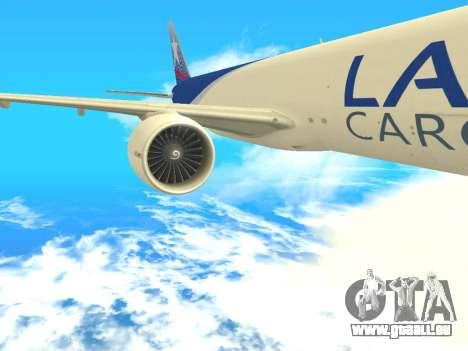Boeing 777 LAN Cargo für GTA San Andreas Rückansicht