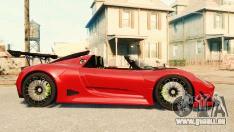 Porsche 918 Spider Body Kit Final für GTA 4 linke Ansicht