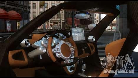 Pagani Huayra Police v1.1 für GTA 4 hinten links Ansicht