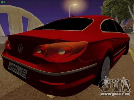 Volkswagen Passat CC für GTA San Andreas zurück linke Ansicht