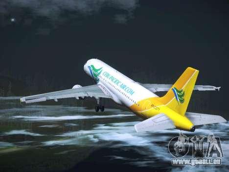 Airbus A320 Cebu Pacific Air für GTA San Andreas Unteransicht