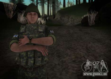 Le Corps des marines des forces armées de l'Ukra pour GTA San Andreas deuxième écran