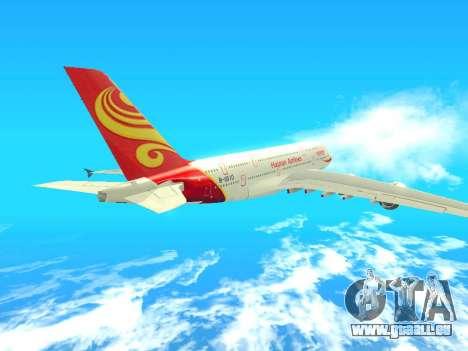 A380-800 Hainan Airlines pour GTA San Andreas vue arrière