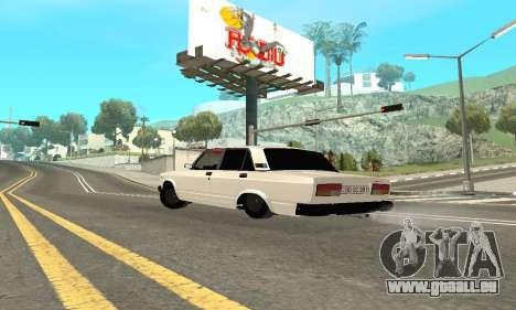 VAZ 2107 Avtosh pour GTA San Andreas sur la vue arrière gauche