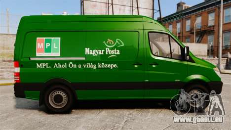 Mercedes-Benz Sprinter 2500 2011 Hungarian Post für GTA 4 linke Ansicht